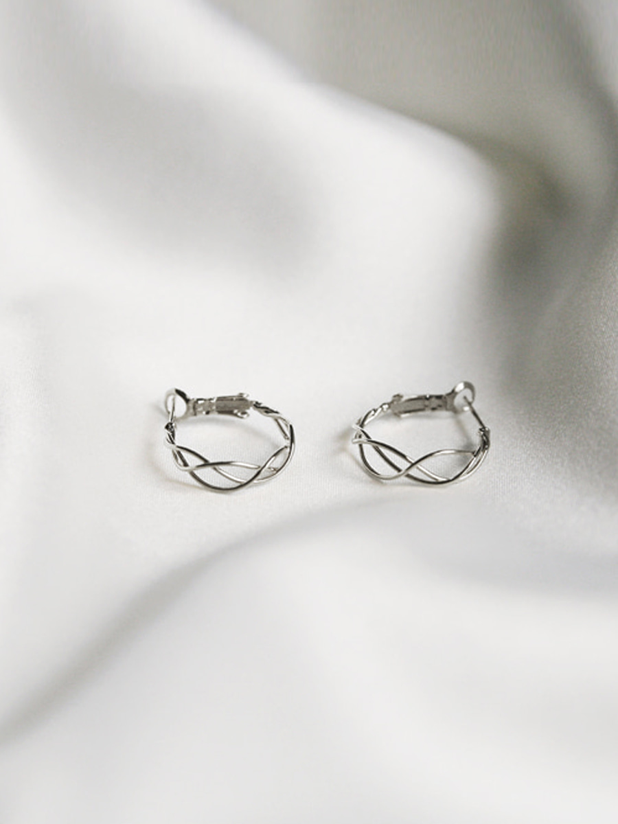 layered wave ring earrings (2 colors)