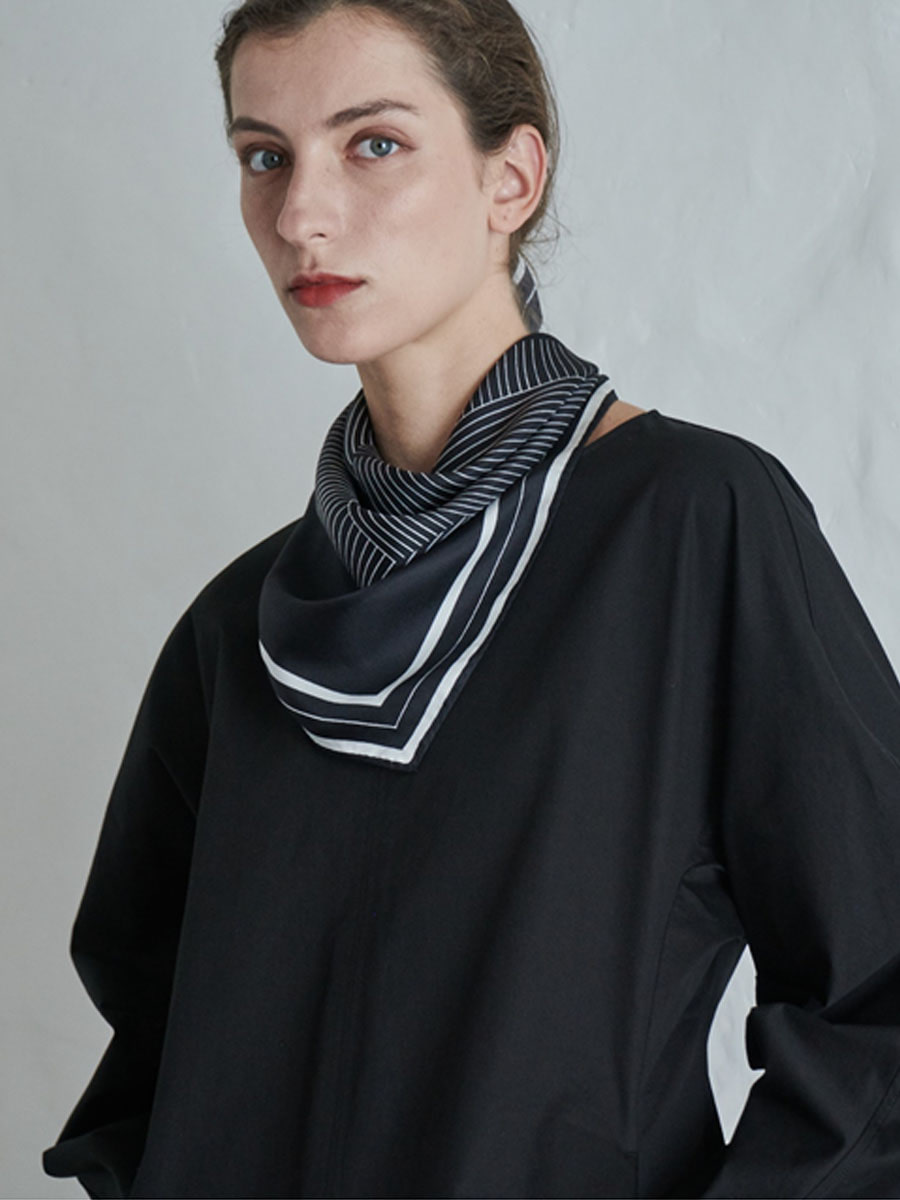 SHAPE SCARF_NATURAL BLACK [20% sale]