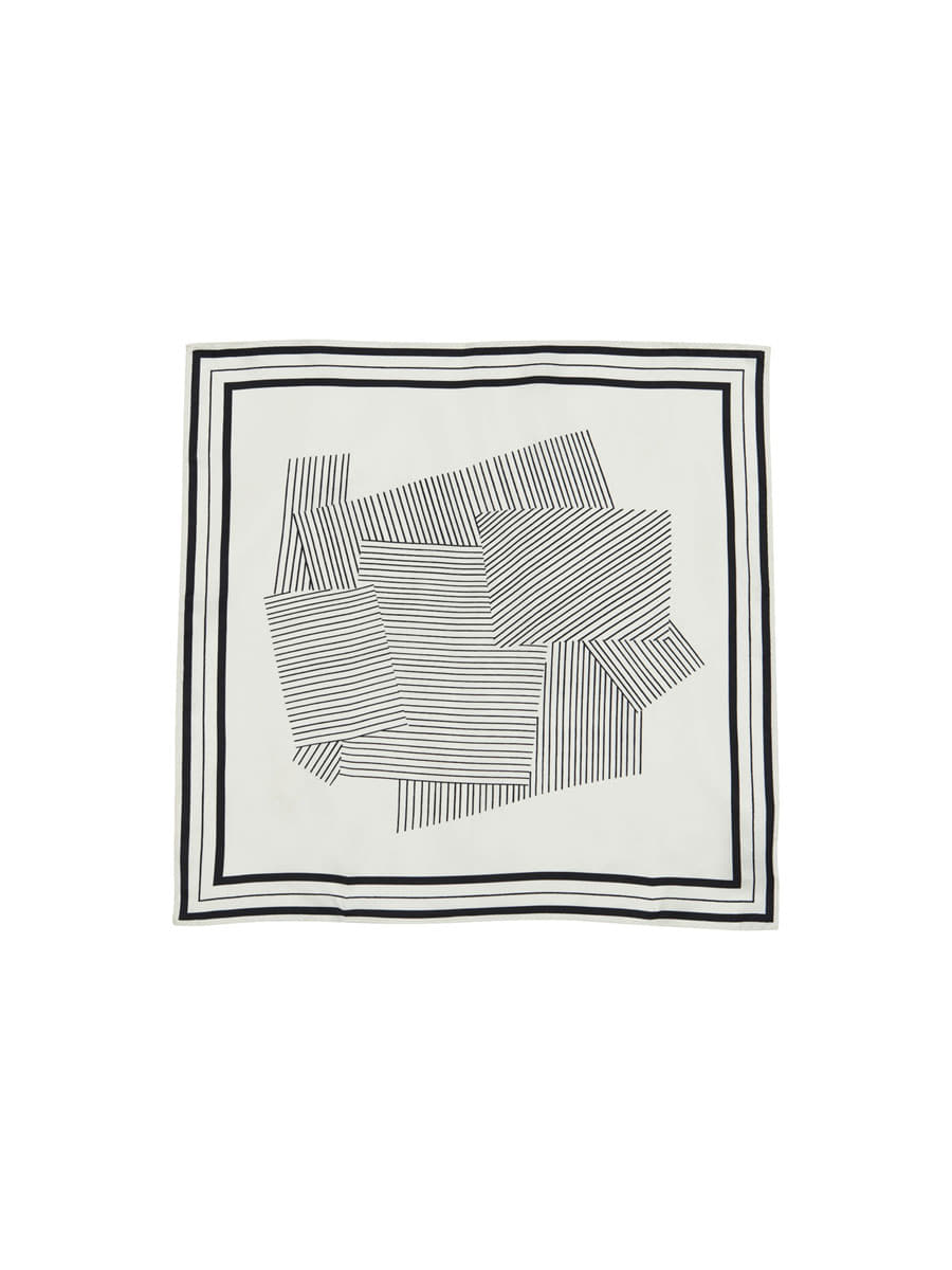 SHAPE SCARF_NATURAL WHITE [20% sale]
