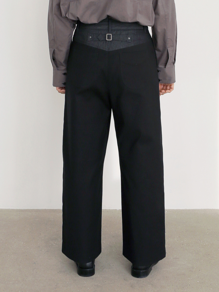 Textured Wide Tuck Pants_Black [11월 8일까지 오픈 기념 10% sale]