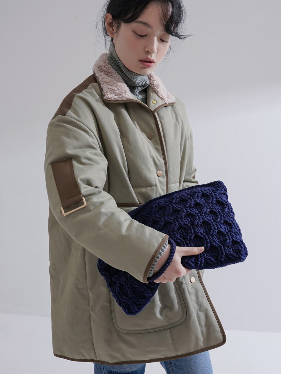 Weaving Clutch / Navy [10% SALE]