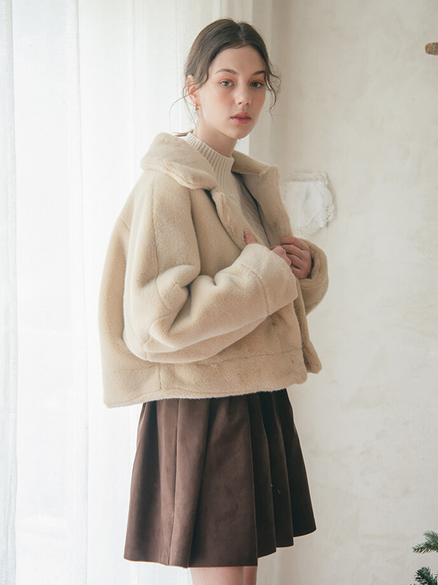HALF FUR COAT [20% SALE]