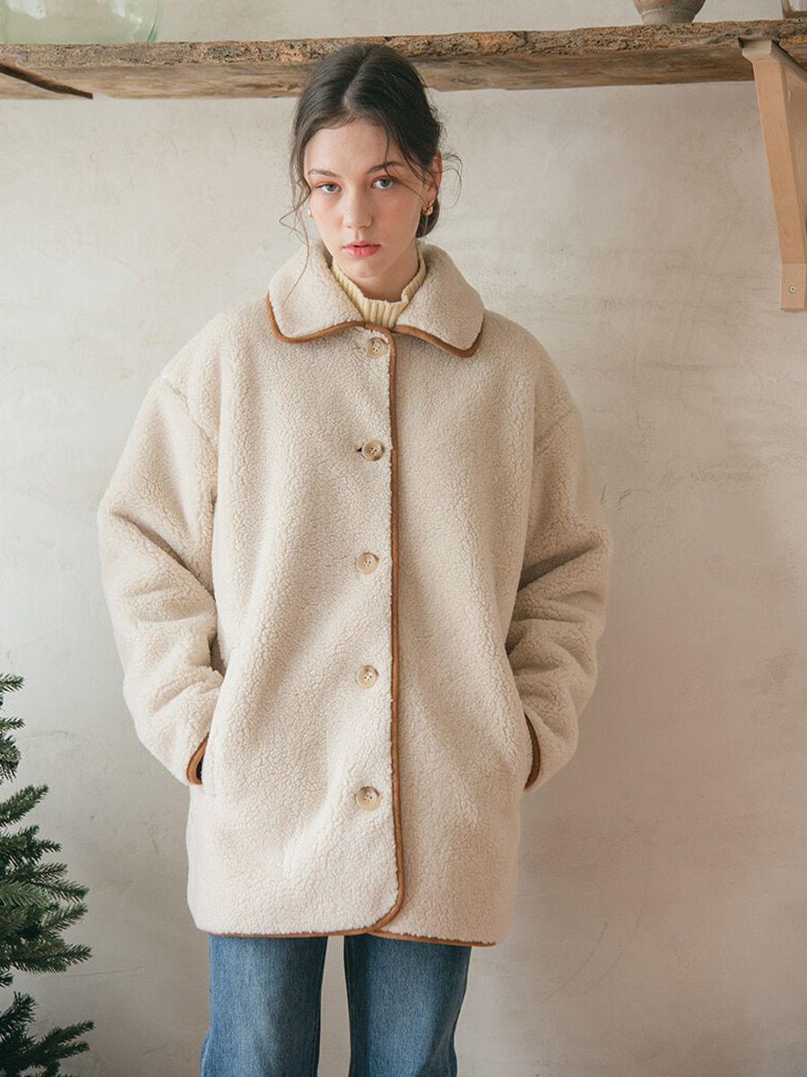 HALF TEDDY COAT [20% SALE]