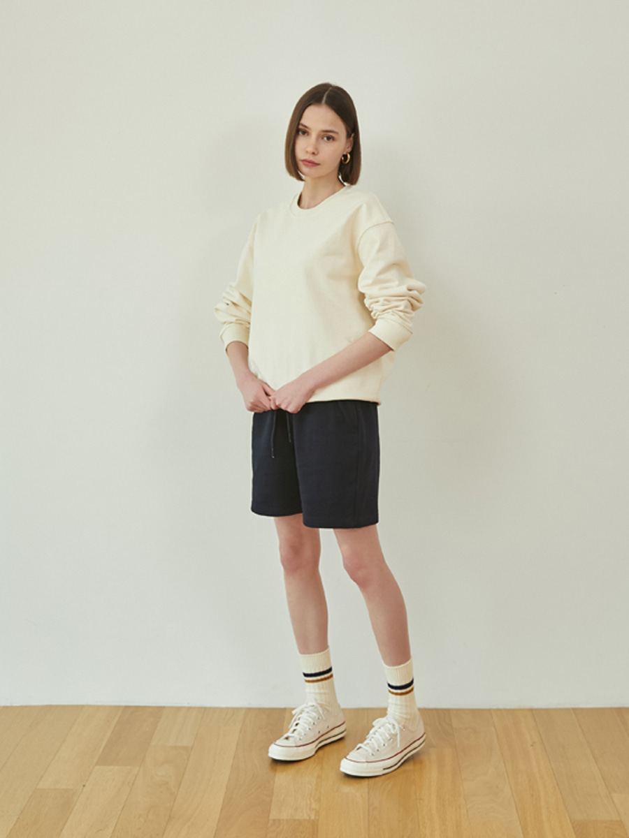 21SS Loose fit sweatshirts (Cream)