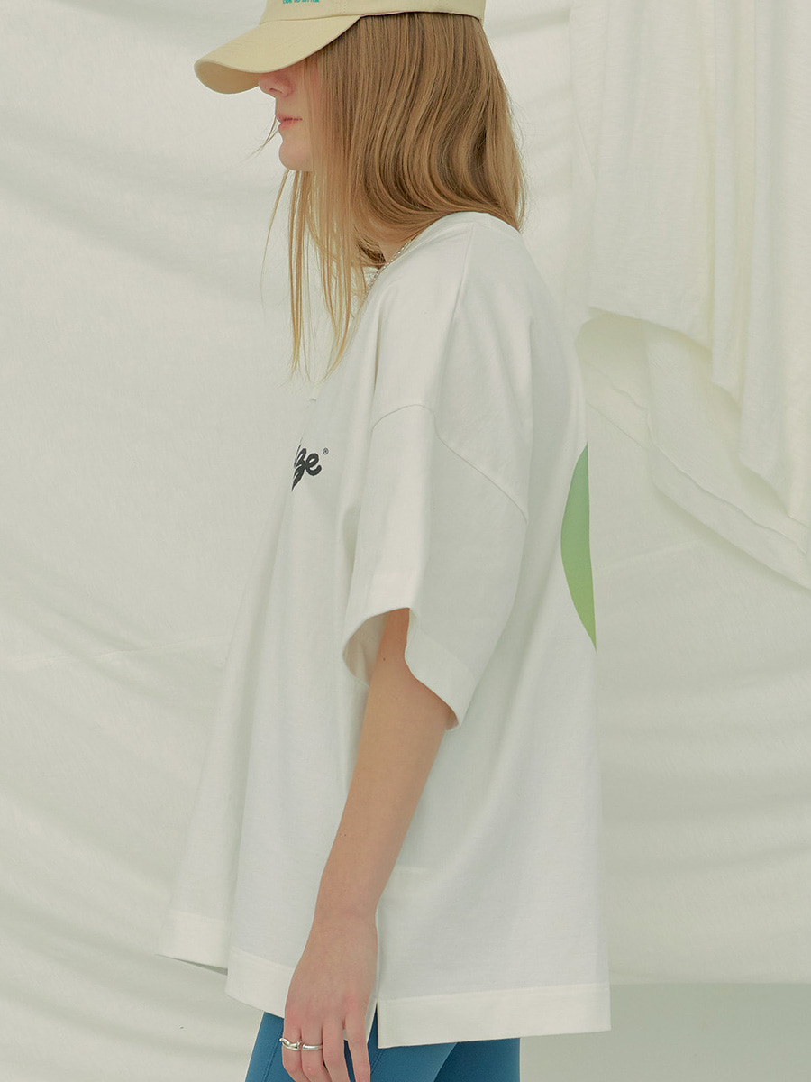 Comma Oversized Tee (White)