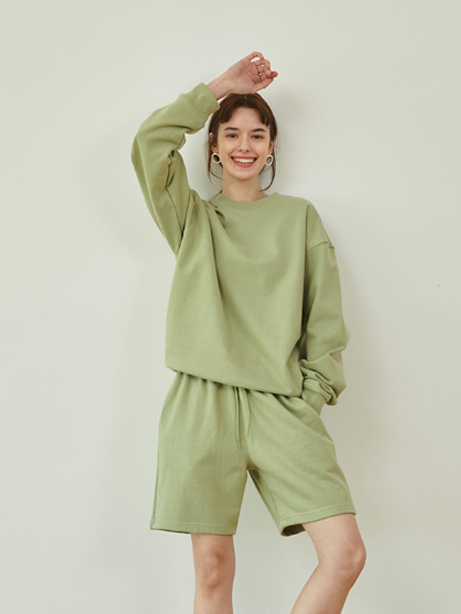 21SS Loose fit sweatshirts (Olive)