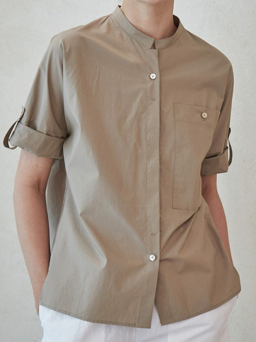 ROLL UP SHIRT_TANNED BEIGE