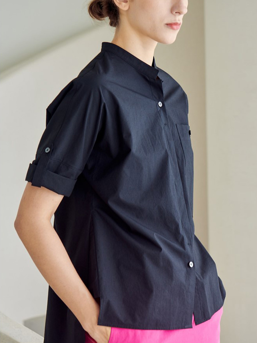 ROLL UP SHIRT_BLACK