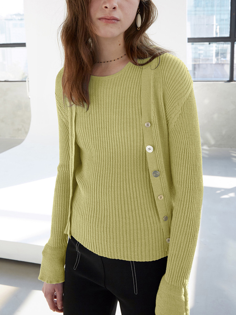 Rioli Cardigan Knit Set_Linden Green